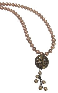 Coldwater Creek Champagne Pearl Bead Necklace