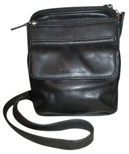 Fossil Leather Organizer Vintage Cross Body Bag