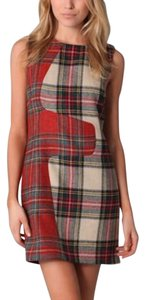 Rag & Bone short dress Red, green, cream plaid on Tradesy