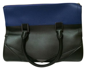 Pour La Victoire Leather Satchel in Black/Blue