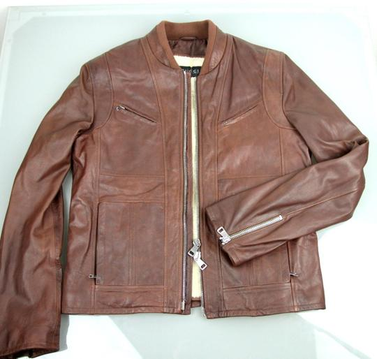 Gucci Brown W New Men's W/Removable Shearling Inner Eu 48/ Us 38 295692 Groomsman Gift Image 5