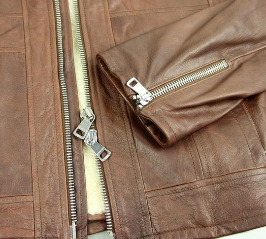 Gucci Brown W New Men's W/Removable Shearling Inner Eu 48/ Us 38 295692 Groomsman Gift Image 6