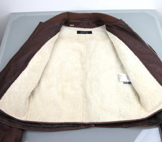 Gucci Brown W New Men's W/Removable Shearling Inner Eu 48/ Us 38 295692 Groomsman Gift Image 7