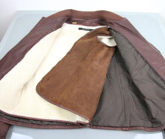 Gucci Brown W New Men's W/Removable Shearling Inner Eu 48/ Us 38 295692 Groomsman Gift Image 8