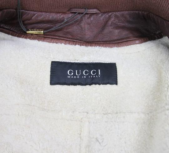 Gucci Brown W New Men's W/Removable Shearling Inner Eu 48/ Us 38 295692 Groomsman Gift Image 9