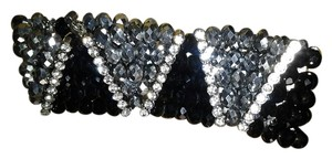 Black Crystal Tribal pattern bracelet