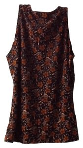 rexx ltd new york Slee Sleeveless Lace Classic Top black and brown