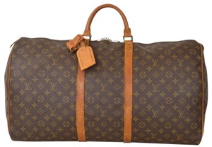 Louis Vuitton Lv Keepall 60 Brown Travel Bag