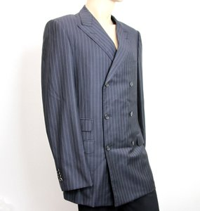 Gucci Navy/Stripe New Men's Blazer Coat Jacket Eu 52l Us 42l 077613 Groomsman Gift