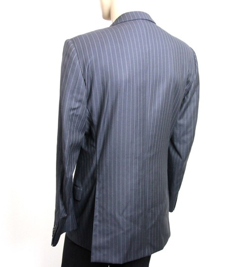 Gucci Navy/Stripe New Men's Blazer Coat Jacket Eu 52l Us 42l 077613 Groomsman Gift Image 2