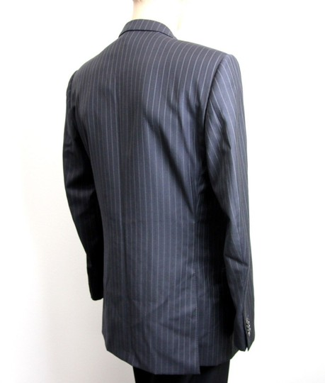 Gucci Navy/Stripe New Men's Blazer Coat Jacket Eu 52l Us 42l 077613 Groomsman Gift Image 3