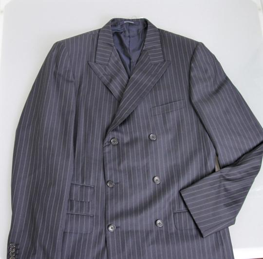 Gucci Navy/Stripe New Men's Blazer Coat Jacket Eu 52l Us 42l 077613 Groomsman Gift Image 4
