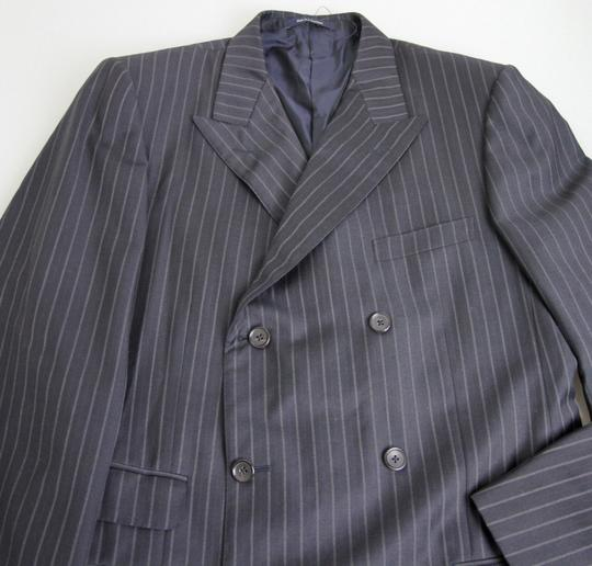 Gucci Navy/Stripe New Men's Blazer Coat Jacket Eu 52l Us 42l 077613 Groomsman Gift Image 5