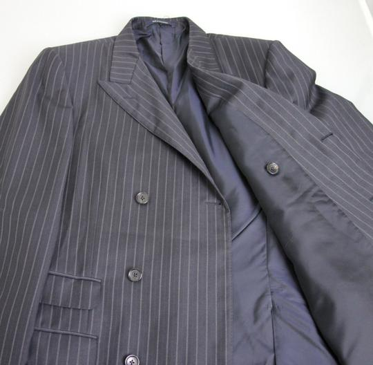 Gucci Navy/Stripe New Men's Blazer Coat Jacket Eu 52l Us 42l 077613 Groomsman Gift Image 6