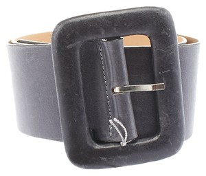 Streets Ahead Streets Ahead Women's Grey Leather Belt, Size S (3664)