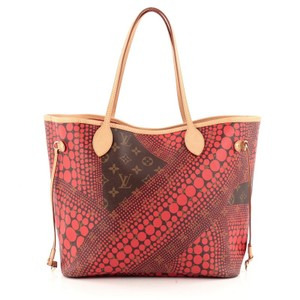 Louis Vuitton Canvas Tote in Brown and Red