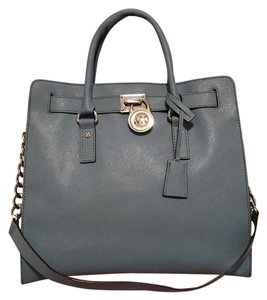 MICHAEL Michael Kors Satchel in Powder Blue with Silver