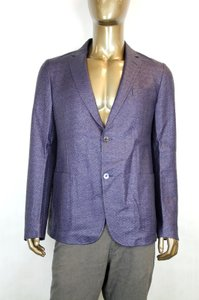 Gucci Blue/Purple New Men's Raffia Cardigan Jacket Eu 54/ Us 44 308078 4386 Groomsman Gift
