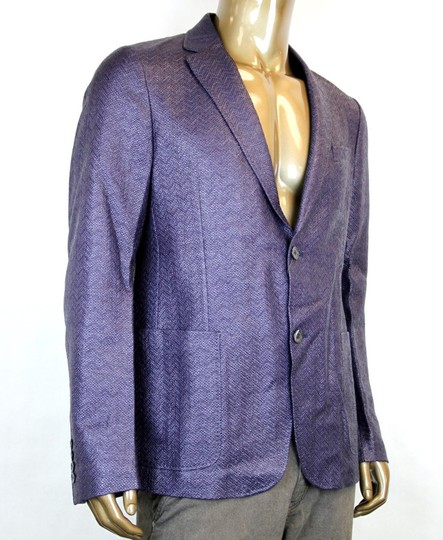 Gucci Blue/Purple New Men's Raffia Cardigan Jacket Eu 54/ Us 44 308078 4386 Groomsman Gift Image 2