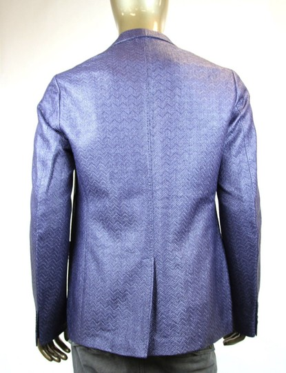 Gucci Blue/Purple New Men's Raffia Cardigan Jacket Eu 54/ Us 44 308078 4386 Groomsman Gift Image 3