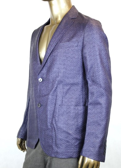 Gucci Blue/Purple New Men's Raffia Cardigan Jacket Eu 54/ Us 44 308078 4386 Groomsman Gift Image 4