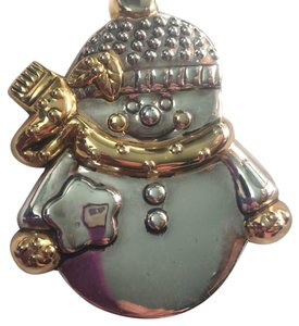Penelope Snowman Silver pendant or clasp pin
