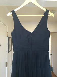 J.Crew Newport Navy New Port Navy Heidi Long Dress In Silk Chiffon Dress Dress