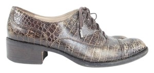 Joan & David Alligator Leather Lace Up Oxford Boots
