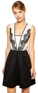 Oasis short dress Black/Ivory on Tradesy