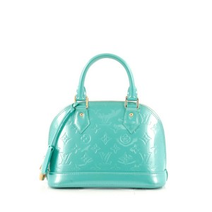 Louis Vuitton Vernis Satchel in Bleu Lagon