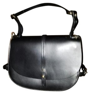 Zara Saddlebag Messenger Satchel in Black