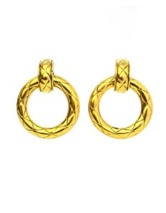 Chanel Chanel Vintage Goldtone Clip-On Earrings