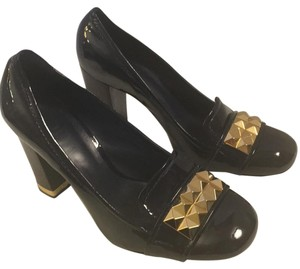 Tory Burch Navy/Gold Pumps