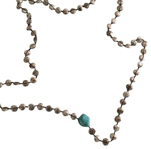 Lucky Brand Silver Beaded Necklace