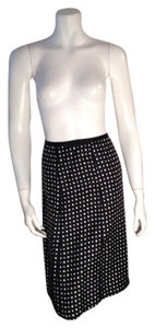 Style & Co Black Silk Skirt Black, White