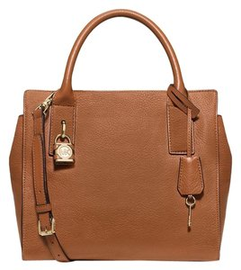 Michael Kors Mckenna Satchel in Luggage