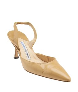 Manolo Blahnik Tan Leather Beige Formal