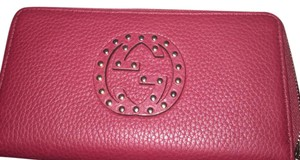 Gucci Nwt Gucci Studded Soho Zip Around Wallet
