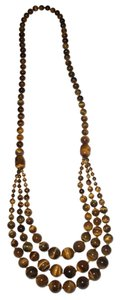 Amy's Treasure Box Tiger Eye Gemstones Necklace