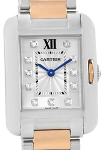Cartier Cartier Tank Anglaise Small Steel 18K Rose Gold Diamond Watch WT100024
