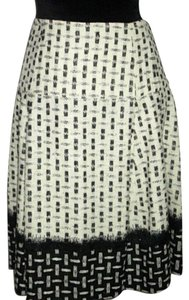 Oscar de la Renta Skirt Winter-Wht+Blk