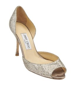 Jimmy Choo Leather Gold Formal