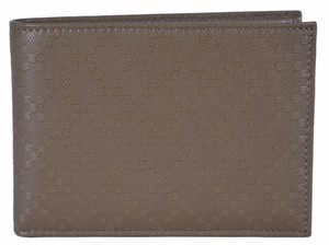 Gucci Gucci Men's 292534 KHAKI Leather Diamante W/Coin Large Bifold Wallet