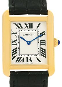 Cartier Cartier Tank Solo Small Yellow Gold Steel Ladies Quartz Watch W1018755