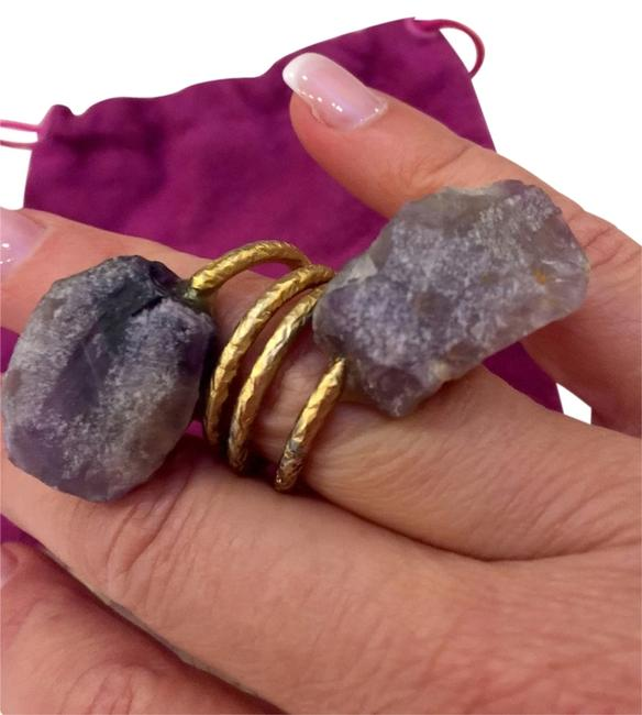 Item - Gold and Purple Amethyst Statement Ring