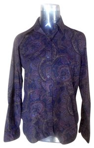 Chaps Paisley Navy Button Down Shirt Navy Paisley