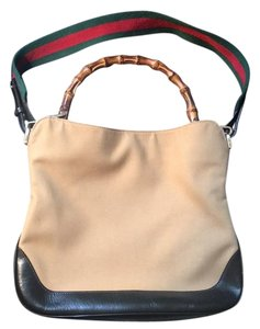 Gucci Satchel in Tan And Black