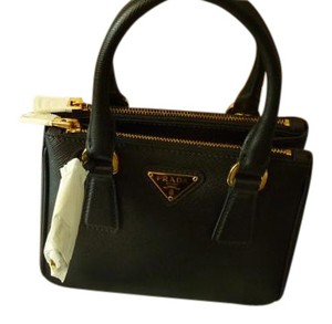 Prada Leather Icon Classic Italian Tote in Black