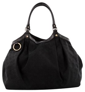 Gucci Canvas Tote in Black