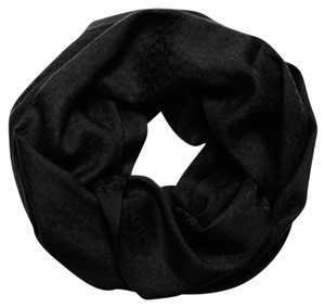 Tory Burch Stacked-'T' Jacquard Infinity Scarf, Black